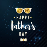 Happy fathers day wishes design vector background. Fashion father greeting reward. Dad poster for print or web. Modern Royalty Free Stock Photos