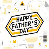 Happy fathers day wishes design vector background on seamless pattern. Stock Images