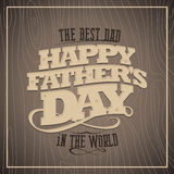 Happy fathers day wooden card. Royalty Free Stock Images