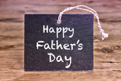 Happy Fathers Day written on chalk board Stock Images