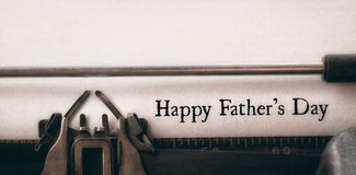 Happy fathers day written on paper. With typewriter stock photos