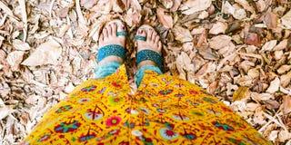 Happy Feet Amidst Mist Royalty Free Stock Photo