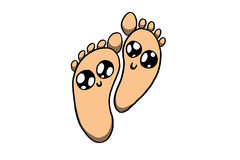 Happy feet. White background, illustration Royalty Free Stock Image