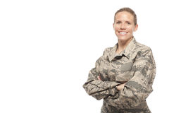 Happy female airman Royalty Free Stock Photography