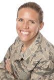 Happy female airman Stock Photo
