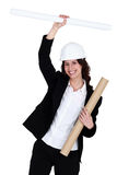 Happy female architect Royalty Free Stock Photo