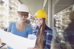 Happy female architects working Stock Images