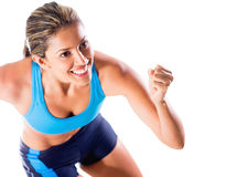Happy female athlete Royalty Free Stock Photography
