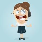 Happy female callcenter agent Stock Photography