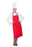 Happy female chef Stock Photo