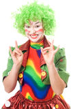 Happy female clown Royalty Free Stock Photo