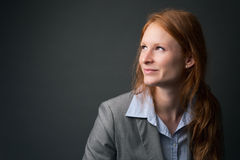 Happy Female Corporate Leader Stock Photography