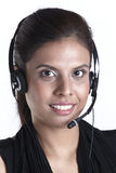 Happy female customer service representative Stock Photos