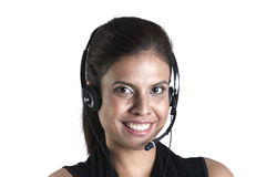 Happy female customer service representative Royalty Free Stock Images