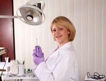 Happy female dentist Stock Photo