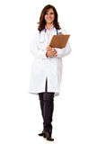 Happy female doctor Stock Images