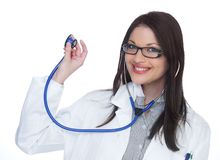 Happy female doctor stock photography