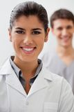 Happy female doctor royalty free stock photos