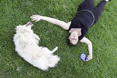 Happy female dog Stock Photo