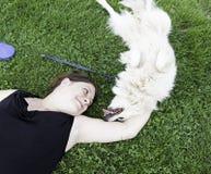 Happy female dog Stock Images