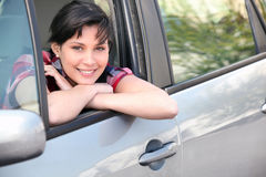 Happy female driver Royalty Free Stock Photos