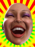 Happy Female Face. Conceptual image of a bald, but happy women Royalty Free Stock Image