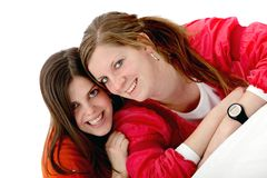 Happy female friends Stock Image