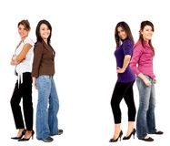 Happy female friends Stock Photos
