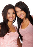 Happy female friends smiling Stock Photography