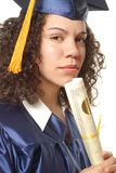 Happy female grad Royalty Free Stock Photography