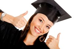 Happy female graduate Stock Photos