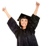 Happy female graduate Stock Image