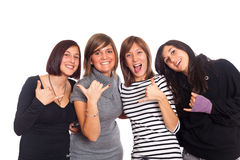 Happy Female Group Stock Image