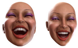 Happy Female Heads Stock Image
