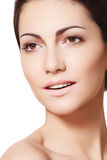 Happy Female Model Face With Healthy Clean Skin Royalty Free Stock Photography