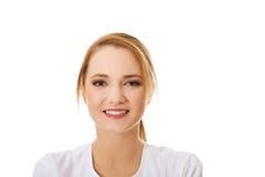 Happy female nurse or doctor. Stock Photos