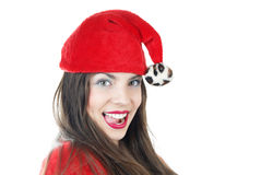Happy female Santa Stock Photography
