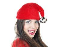 Happy female Santa Stock Photography