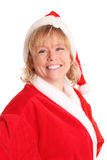Happy female santa Stock Image