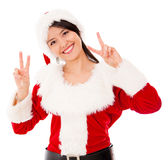 Happy female Santa Stock Photo