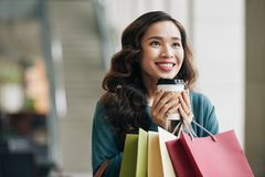 Shopping lover Stock Image