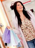 Happy female shopper Royalty Free Stock Photos