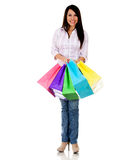Happy female shopper Stock Photo