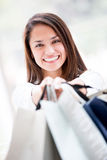 Happy female shopper Royalty Free Stock Image