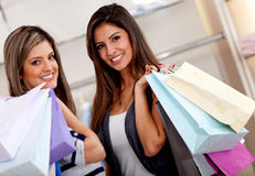 Happy female shoppers Royalty Free Stock Photo
