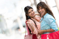 Happy female shoppers Royalty Free Stock Image