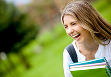 Happy female student Stock Photography