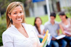 Happy female student Stock Photos
