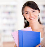 Happy female student Royalty Free Stock Images