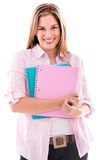 Happy female student Royalty Free Stock Image